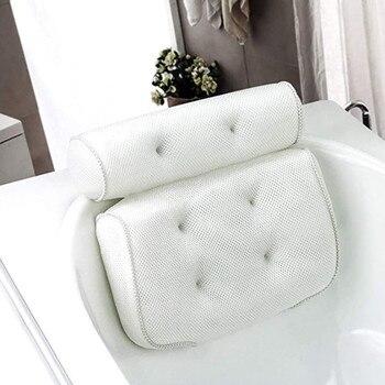 Spa Non-Slip Bath Pillow Cushioned Bath Tub Spa Pillow Bathtub Head Rest Pillow With Suction Cups For Neck Back Bathroom Supply 1