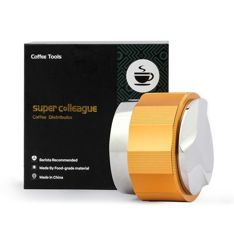 51 53 58 58.5mm Professional Coffee Espresso Distribution Tamper Tool Coffee Distributor Tool Coffee Leveler Fits