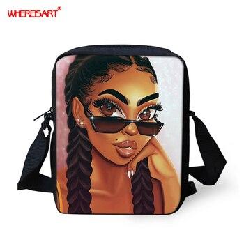 WHEREISART Africa Princess Girl Women Handbags Women Messenger Bags Flap Crossbody Bag Cute Shoulder High Quality Small Purse