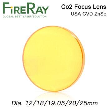FireRay Focus Lens USA CVD ZnSe Dia 12 15 18 19.05 20 FL 38.1 50.8 63.5 76.2 101.6 127mm for CO2 Laser Engraving Cutting Machine usa cvd znse focus lens 20mm dia 63 5mm focal for co2 laser co2 laser engrave machine co2 laser cutting machine