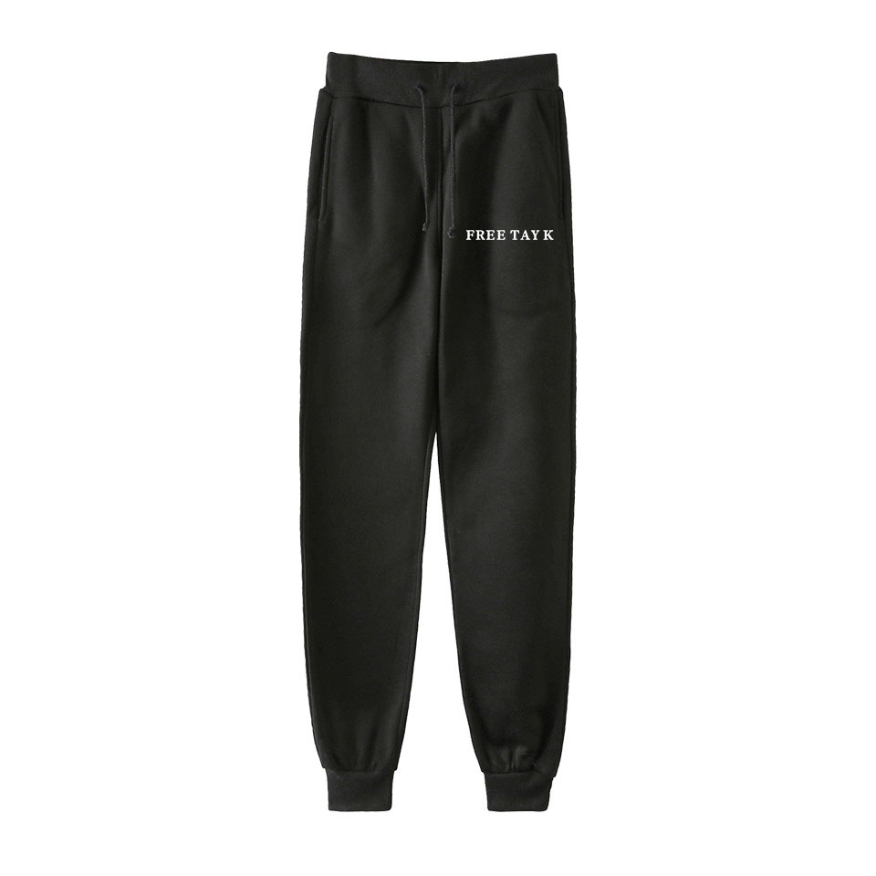 Hot Sales 2019 Spring And Autumn America Singer Tay K Printed Men And Women Casual Trend Ankle Banded Pants