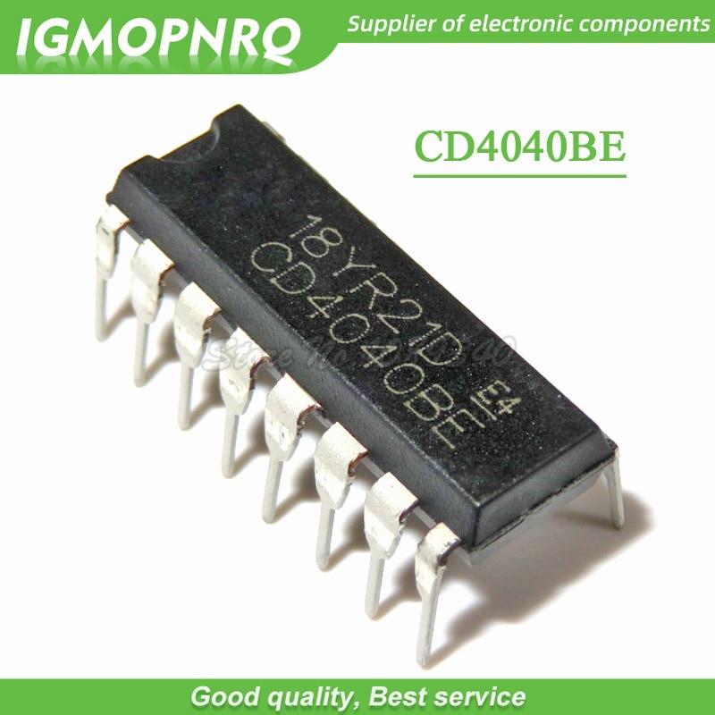 20PCS CD4040BE CD4040B CD4040 DIP Logic Chip New Original Free Shipping