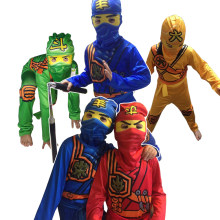 Ninjago Party Kostuums Kids Jongens Halloween Kostuum voor Kids Christmas Party Pak Ninja Kleding Superheld Cosplay Kostuum Ninja(China)