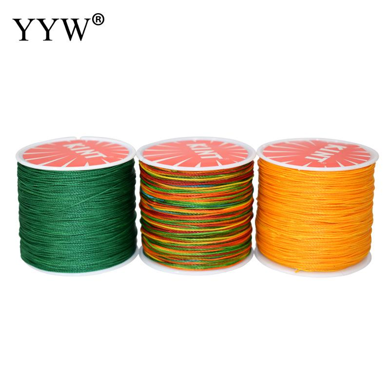 Approx 106m/Spool 0.5mm Waxed Cotton Cord String Strap Rope Bead Waxed Thread Cord For Jewelry Making Diy Bracelet Necklace