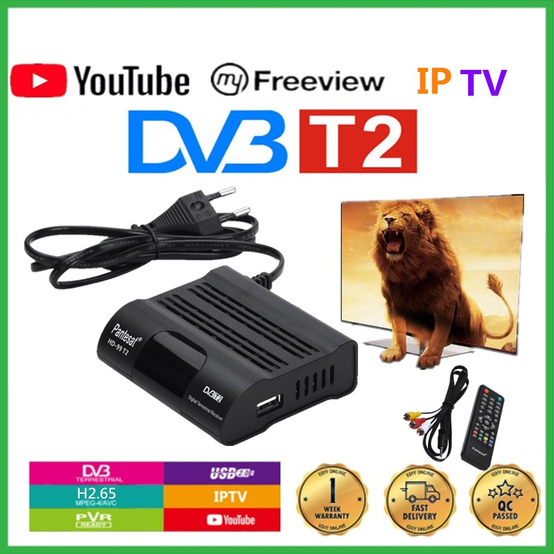 DVB T2 TV Receiver HD Digital TV Tuner Receptor H.265 Terrestrial Receiver Set Top Box IPTV M3u Youtube Built-in Russian Manual