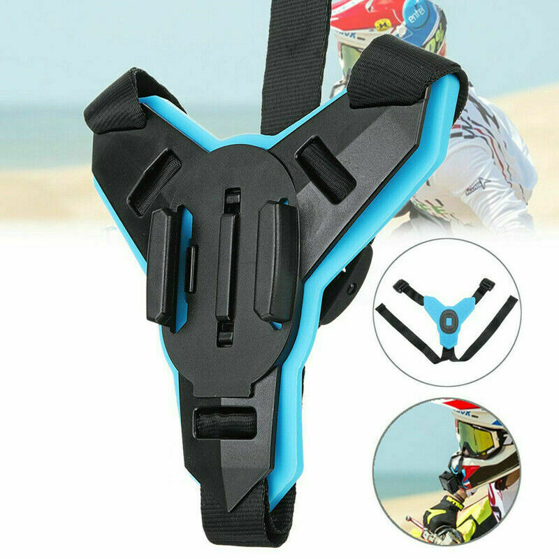 Full Face Helmet Chin Mount Holder Motorcycle Helmet Bracket Stand Riding Camera Accessories For Go Pro Hero 8 6 5 SJCAM