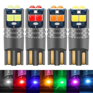 Image 1 - 1Pcs T10 W5W 194 168 Car LED Light 3030 10SMD Canbus Error Free Auto Interior Side Turn Bulb Lamp Amber Yellow Oragne 12 24V DC