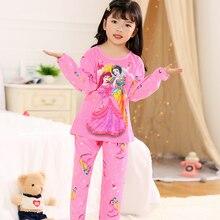 Cartoon Children Long Sleeve Pajamas Set For Child