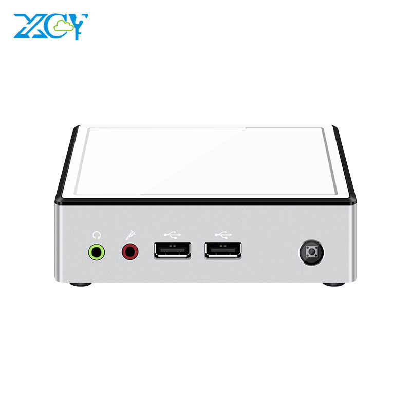 Xcy mini pc intel core i7 5500u i5 4200y i3 4010y 4gb/8gb ddr3l 128gb ssd windows 10 linux wifi gigabit ethernet hdmi htpc