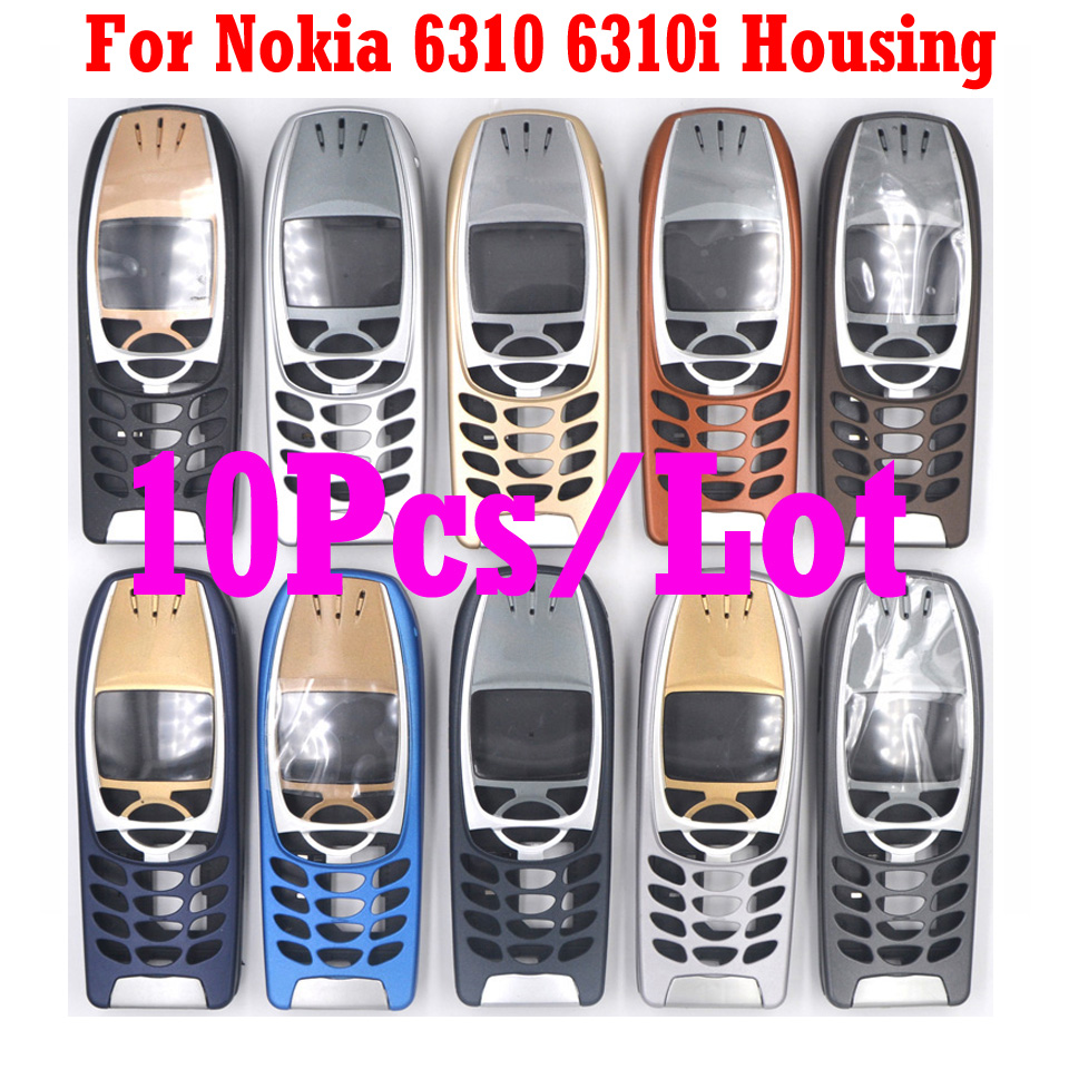 10 Pcs/lot For <font><b>Nokia</b></font> 6310 <font><b>6310i</b></font> High Quality Brandnew Mobile Phone Housing Cover Case ( No Keypad ) + Free Tools, Free Shipping image