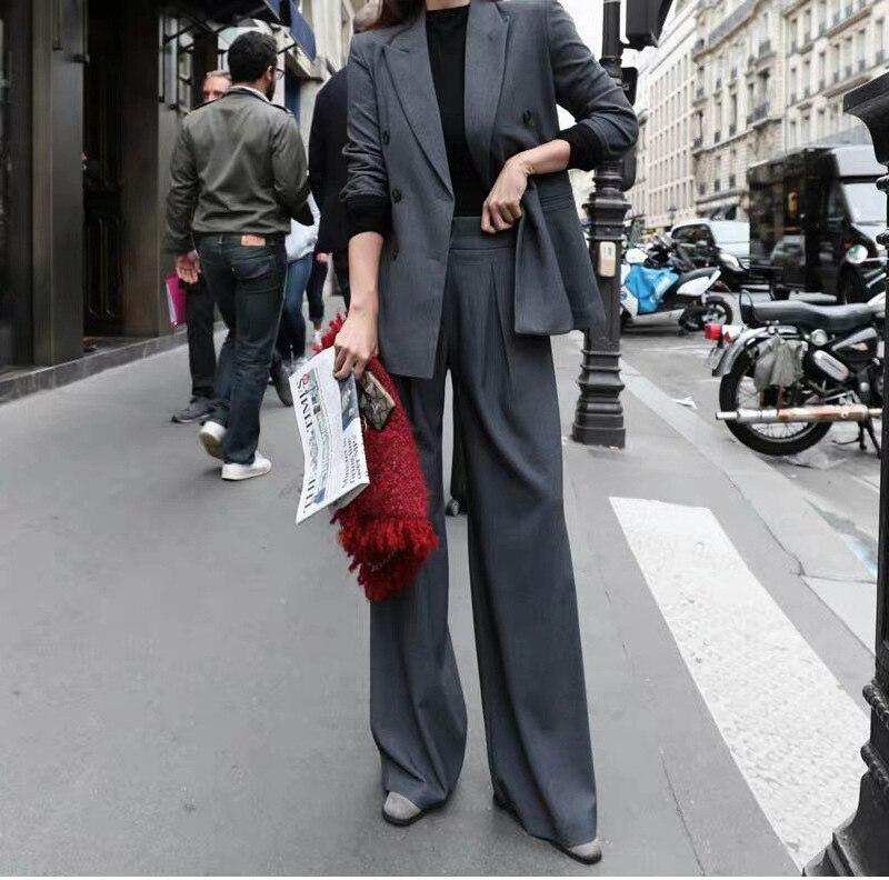 M-5XL Plus Size Professional Women's Wear Casual high-quality wide-leg pants suit two-piece suit Fashionable jacket 2020 New