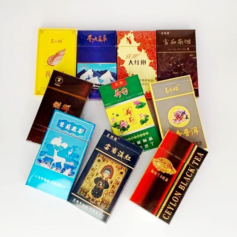 Здоровый чай, табачный чай, натуральный травяной чай, дым с десятью вкусами, китайская сигарета, чтобы бросить курить, прозрачные легкие, без...