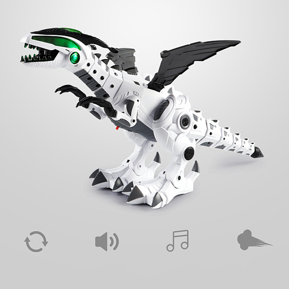 Electric Spray Dinosaur Robot Toy Kids Walking Dinosaur Fire Breathing Water Spray Mist With Light Realistic Sounds Toys For Boy