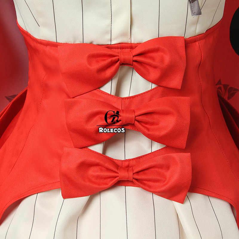ROLECOS kader Marie Cosplay kostüm noel FGO Marie Antoinette Cosplay elbise pelerin kadın kırmızı kostüm kader büyük sipariş üniforma