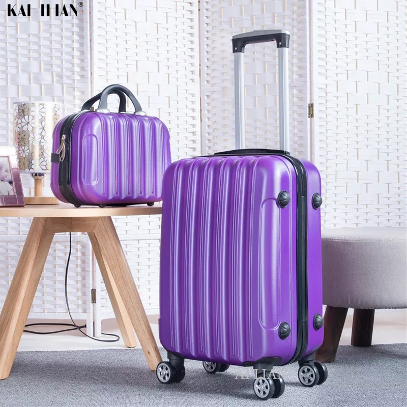 ABS Rolling Luggage Set Travel Trolley Suitcase With Wheels Carry On Luggage 28'' Big Bag 20 Inch Cabin Suitcase Girls Women Bag