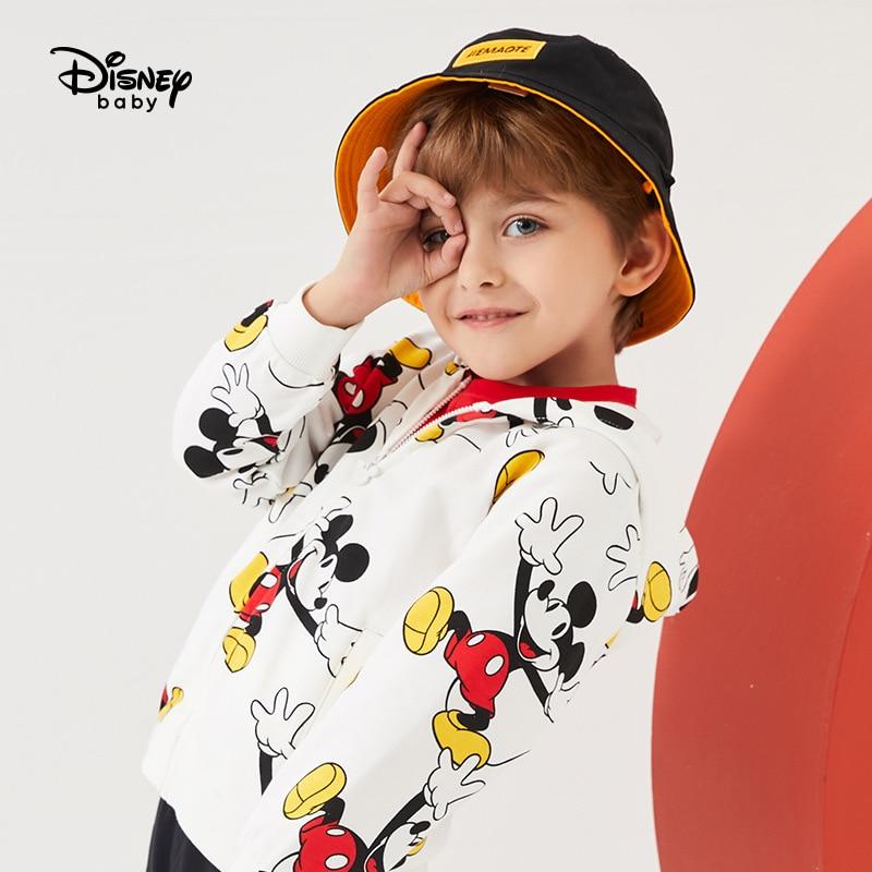 Original Disney Autumn 2020 Boys' Coat Autumn Children Cartoon Long Sleeve Mickey All Over Print Casual Top DB031AF06