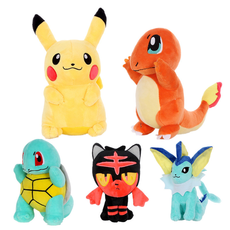 Jigglypuff  Charmander Gengar Bulbasaur Squirtle Peluche   Plush Toys EEVEE For Children  Soft Doll Anime