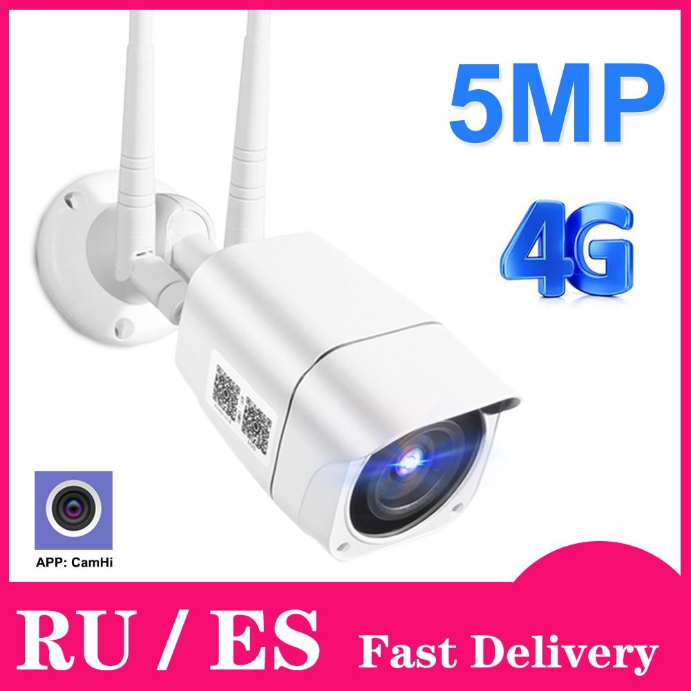 4G sim-карта IP камера 1080P 5MP HD беспроводная WIFI наружная охранная цилиндрическая камера CCTV металлическая P2P Onvif Двусторонняя аудио камера