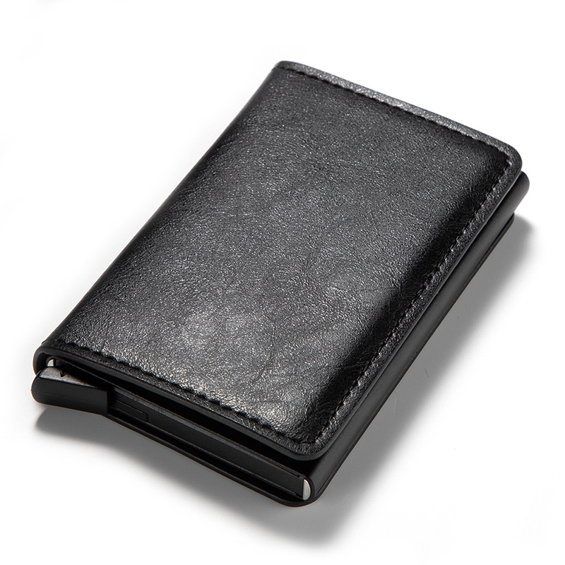 Slymaoyi Men Credit Card Holders Business ID Card Case 2020 Fashion Automatic RFID Card Holder Aluminium Bank Card Wallets