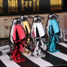 Creative Penguin Shape Gas Lighter Metal Mini Free Flame Cigarette Lighter Smoking Accessories Men's Gifts недорого