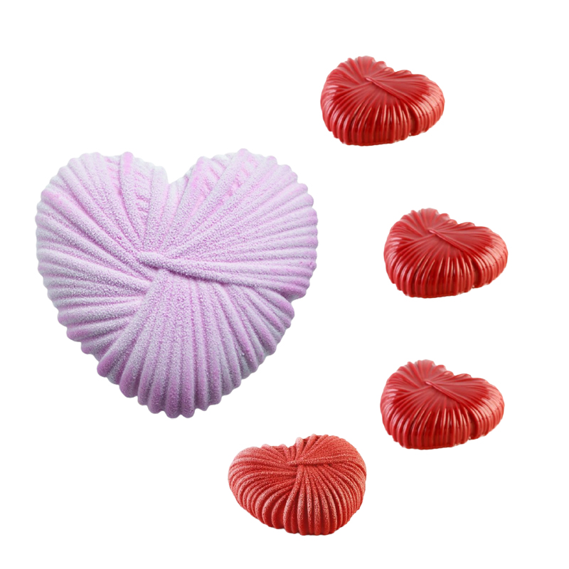 Valentine's Day Dessert Silicone Cake Molds Lovers Anniversary Pastry Baking Tools Heart Shaped Mousse Moulds Kitchen Bakeware