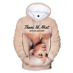 Image 3 - 2019 Nieuwe 3D Ariana Grande Dank U Volgende Hoodies Sweatshirt Vrouwen/Mannen Vrouwen Casual 3D Ariana Grande Hoodies Sweatshirts XXS 4XL