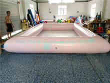 Sale of pink 4/6 m PVC inflatable swimming pool, outdoor commercial inflatable pool. customizable pvc toys inflatable pool portable swimming pool for home use or outdoor ground