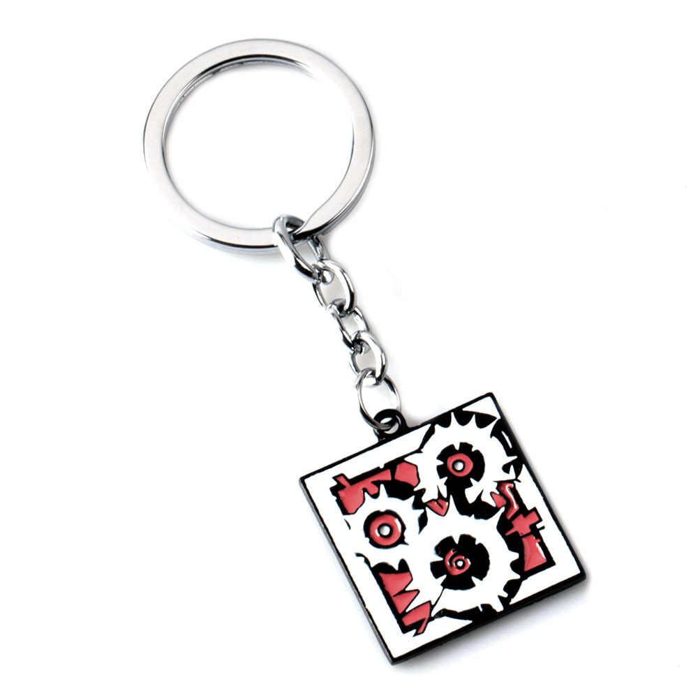 2019 ใหม่แฟชั่นสายรุ้งหก 6 เว็บไซต์ Key ผู้ชายผู้หญิงโลหะชายอะนิเมะ Key Chain ผู้ถือ Porte clef ของขวัญเครื่องประดับ