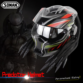 Motorcycle Helmet Predator kask Cascos Full Face Casque motocross helmet Fiberglass Mask Casco Verspa Alien Caoacete capacete