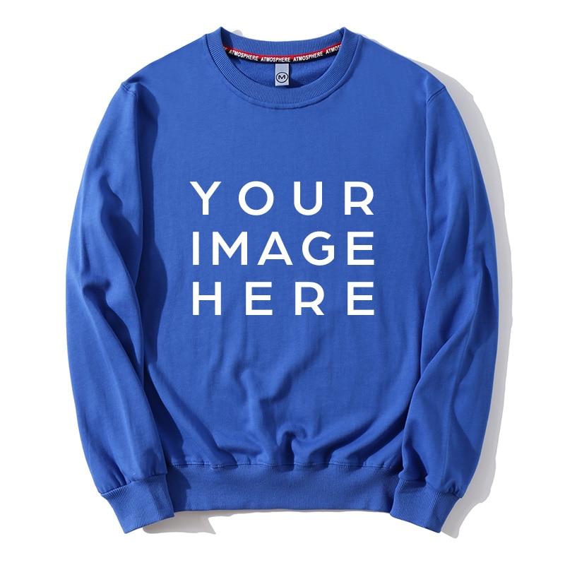 Men Hoodies 2019 Spring Autumn Couples Hip Hop Street Wear Women Casual Long Sleeve Pullover Tops Custom Printing Design/Photo