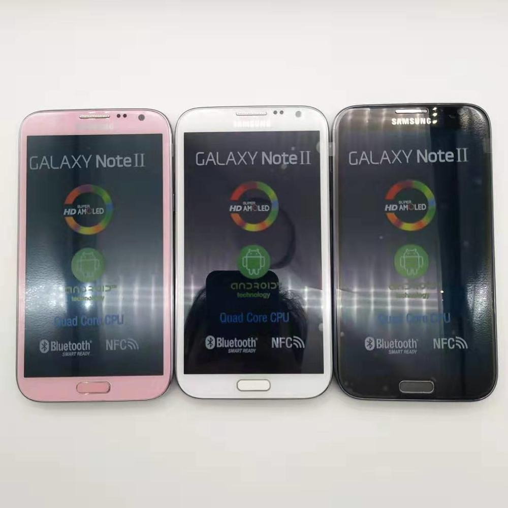 100% Original N7100 desbloqueado Samsung Galaxy nota 2 II N7100 teléfono móvil 5,5