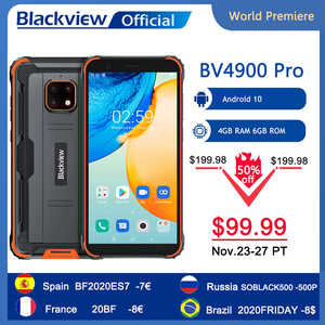 World Premiere Blackview BV4900 Pro IP68 Rugged Phone 4GB RAM 64GB ROM Android 10 Mobile Phone 5580mAh 5.7 inch NFC Cellphone