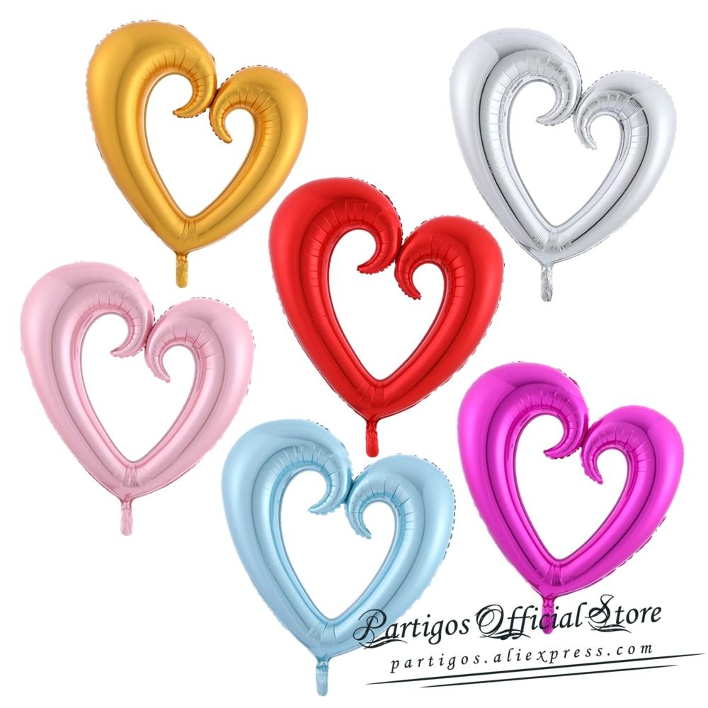 "30/"" Giant Foil Balloon Jumbo Heart Shape Love Bride Wedding Birthday Valentines"