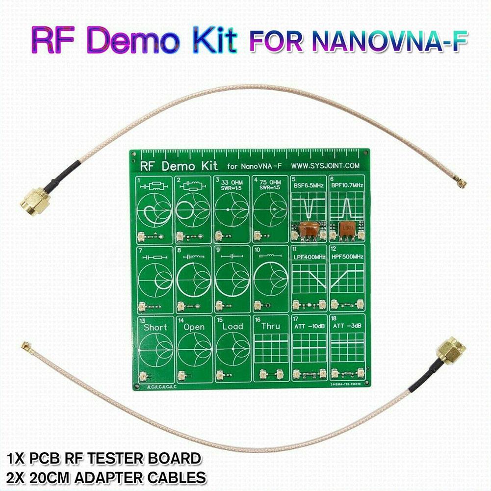 Tool RF Demo Kit Equipment Cable Vector Network Test Board Anaylzer Filter Set Accessories Attenuator For NanoVNA