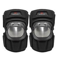 1 par joelheiras de aço inoxidável da motocicleta motocross corrida protetor engrenagem guardas esportes armadura kit