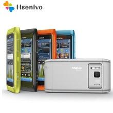 """원래 노키아 N8 휴대 전화 3G 와이파이 GPS 12MP 카메라 3.5 """"터치 스크린 16 기가 바이트 스토리지 저렴한 전화 단장 한"""