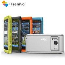 """Oryginalny telefon komórkowy Nokia N8 3G WIFI GPS 12MP aparat 3.5 """"ekran dotykowy 16GB przechowywanie tanie telefon odnowiony"""