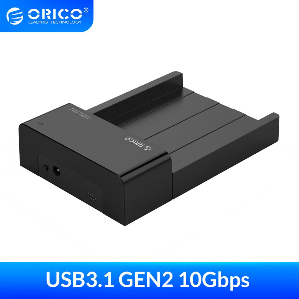 ORICO Type C HDD Enclosure SATA to USB 3.1 2.5 3.5 inch 10Gbps USB C External Hard Drive Docking Station Support UASP 8TB Drives