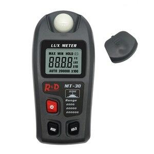 Medidor digital de lux 0 ~ 200,000lux, medidor de luz para fotografia, luminômetro e testador