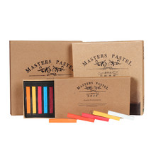 Marie crayons macios secos pastel 12/24/36/48 cores/conjunto de desenhos artísticos cor de giz escova de papelaria para alunos