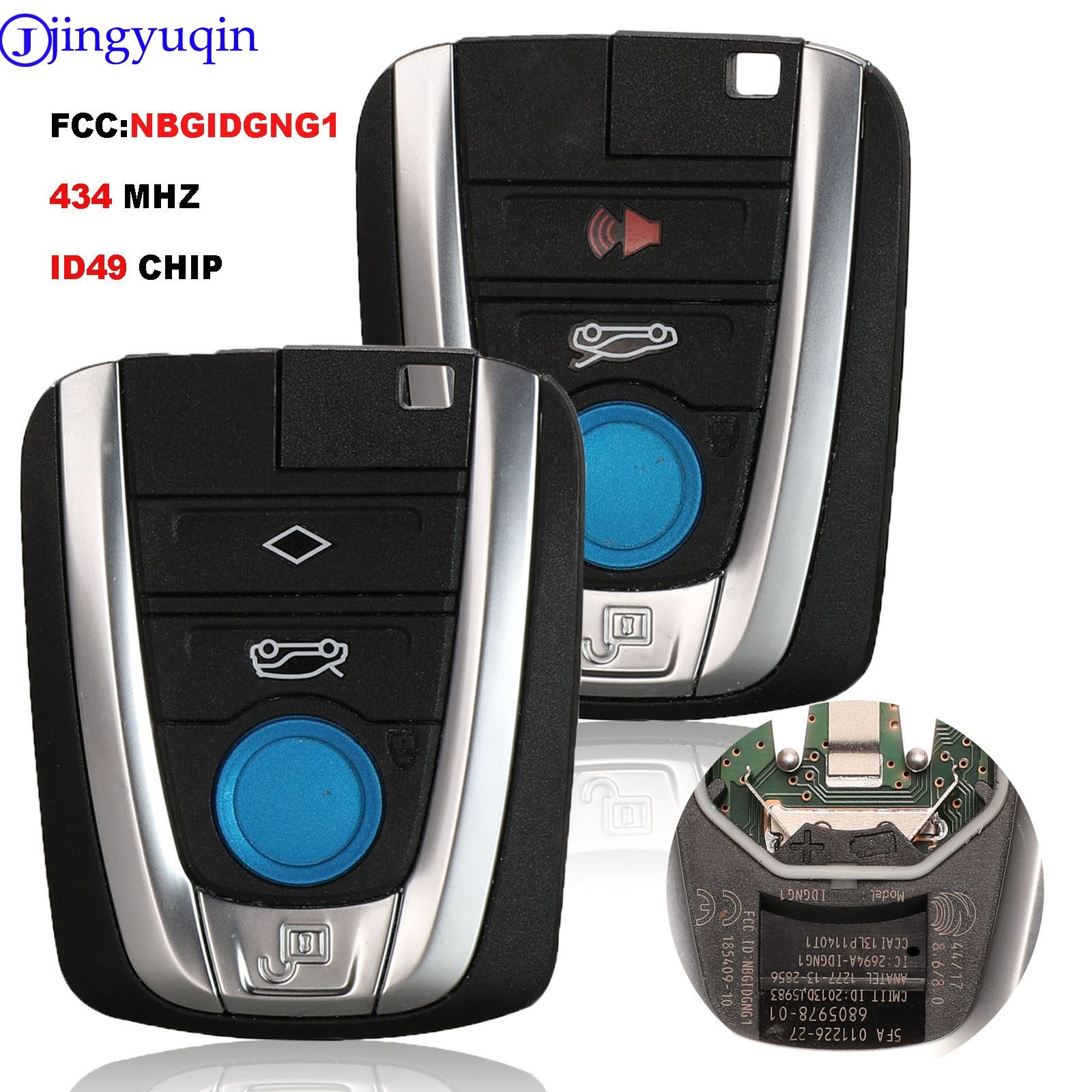 jingyuqin 4B Remote Control Car Key Fob 434MHz ID46 For BMW I3 I8 Smart Key FCC:NBGIDGNG1