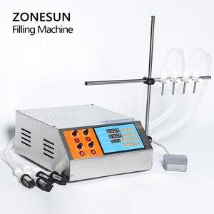 Image 3 - ZONESUN Machine de remplissage électrique à 4 têtes, remplisseuse, commande digitale, pompe, parfums, eau, jus, huiles essentielles, liquides, 3 à 4000ml