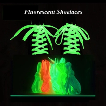 1pair Luminous Shoelaces Fluorescent Shoeslace Sneakers Canvas Sport Men Women Glow in The Dark Shoelaces Shoe Accessories darseel shoe accessories shoelaces tax