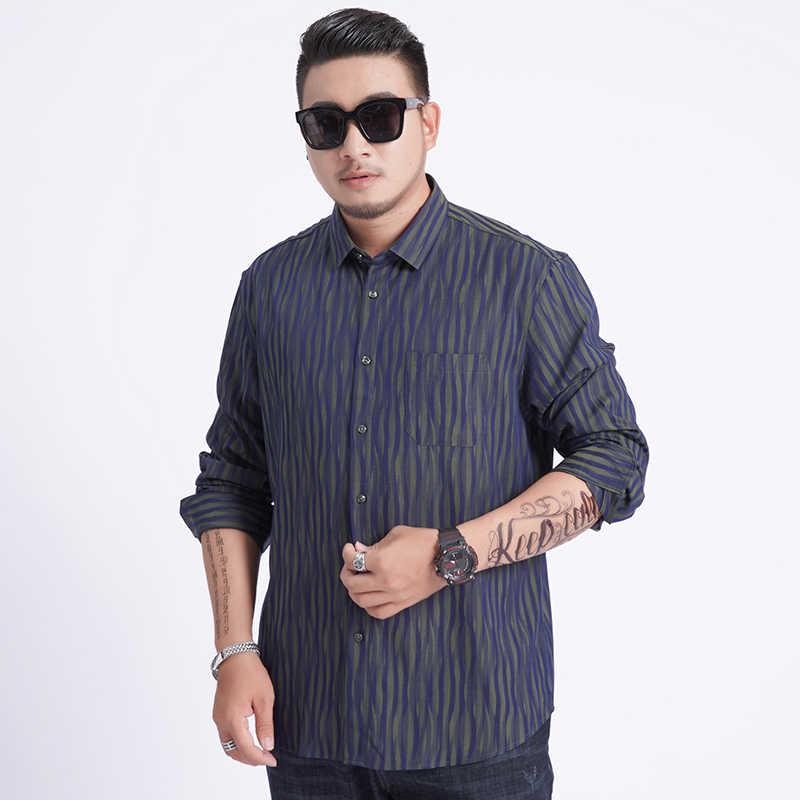 2020 nova chegada dos homens de alta qualidade camisas formais manga longa super grande obeso plus size 6xl 7xl 8xl moda e lazer