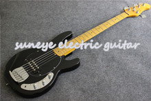 Suneye Black Glossy Electric Bass Guitar 5 String Music Man String Ray Style Bass Guitar Maple Fretboard Guitar Neck Kit стоимость