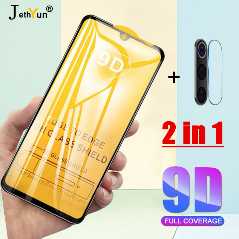 2 In 1 Tempered Glass For Xiaomi Redmi Note 7 8 Pro 8T Screen Protector Redmi K30 5G 6 7 8 6A 7A 8A Camera Protective Lens Film
