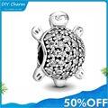 925 Sterling Silber Metall Perlen pet schildkröte Charme fir Original Pandora charms Silber 925 Armband Echtem Valentine Geschenke