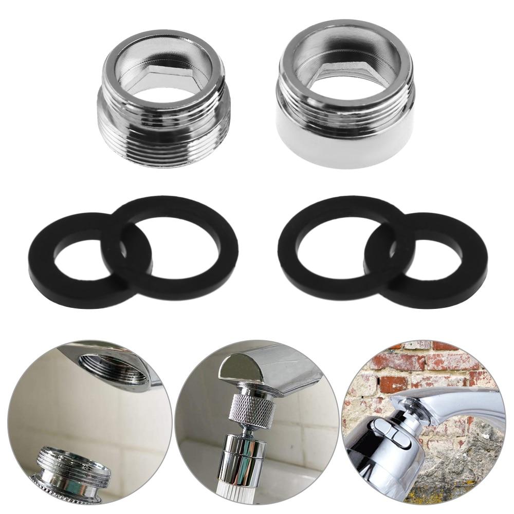 Metal dış iç dişli su tasarrufu adaptörü 16-28mm için 22mm musluk havalandırıcı bağlayıcı mutfak musluk için conta ile