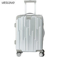 VESCOVO Ultralight Trolley suitcase 2024inch rolling luggage spinner PC travel bag student password box