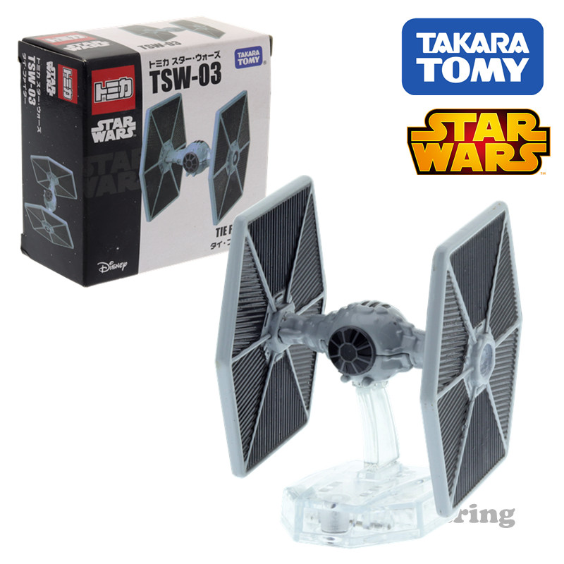 Tomica  Star Wars TSW-03 Tie Fighter Disney Cars Takara Tomy Diecast Metal Model Car Toy Vehicle Toys Collection